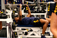 ETSU Women's Basketball Weight Lifting