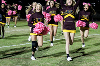 Science Hill vs Jeff Co. Cheerleaders 10-14-16